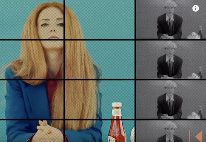 "Lena Katina recreates ""Andy Warhol Eating burger"" scene in video ""Mcdonalds"""